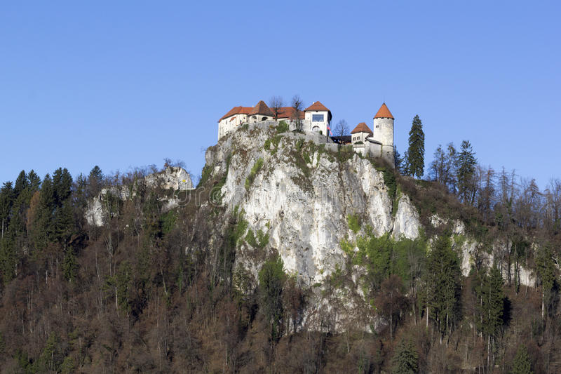 The castle of Bled stock photos