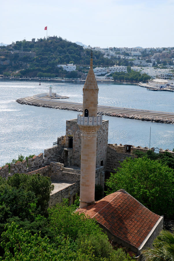 In the castle of Bodrum. Tourism in Bodrum in Turkey stock photo