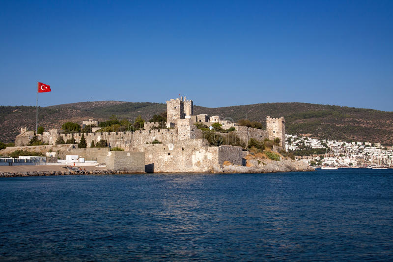 Castle in Bodrum. Castle of Saint Peter. Bodrum, Halicarnas, Western Turkey stock photos