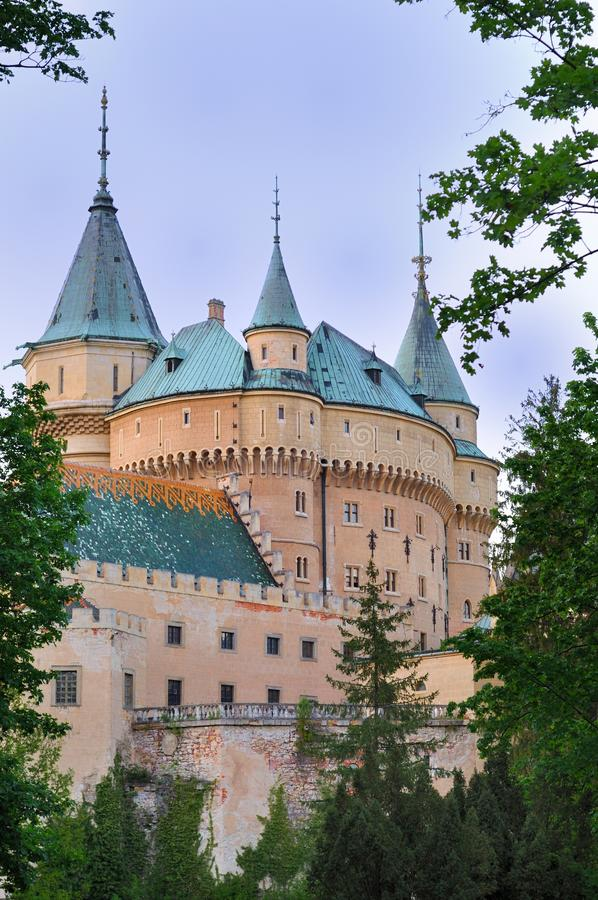 The Castle Bojnice stock photography