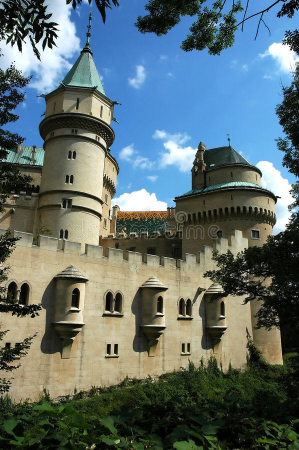 Castle in Bojnice, slovakia royalty free stock photography