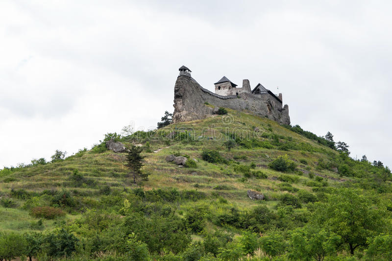 Castle of Boldogko on hilltop in Hungary stock images