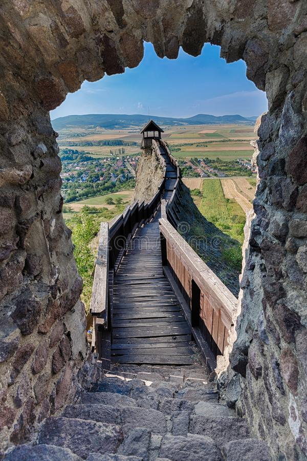 Castle of Boldogko in Hungary in Europe royalty free stock image