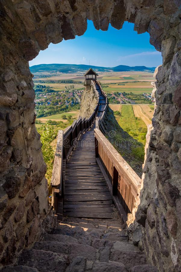 Castle of Boldogko in Hungary in Europe royalty free stock photography