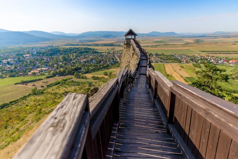 Castle of Boldogko in Hungary in Europe royalty free stock images