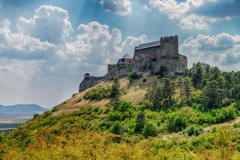 Castle of Boldogko in Hungary in Europe royalty free stock photo