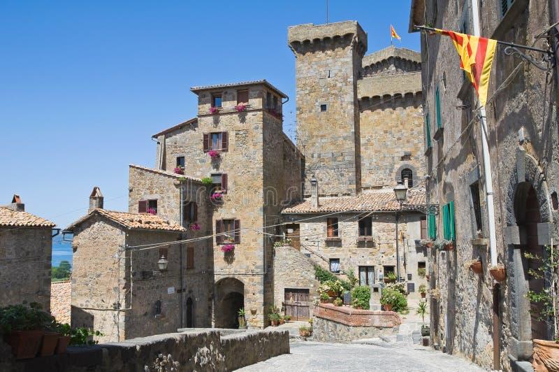 Castle of Bolsena. Lazio. Italy. Perspective of the Castle of Bolsena. Lazio. Italy stock photos