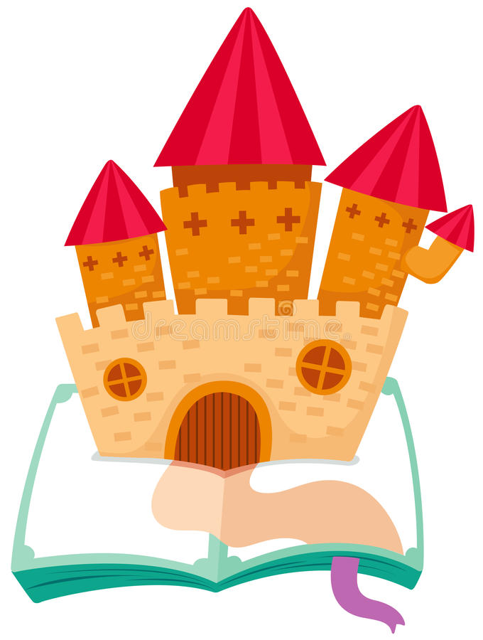 Download Castle on the book stock vector. Image of cute, home - 25100943
