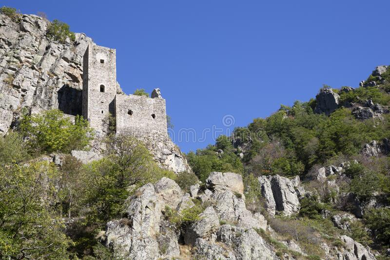 Castle of Borne in the Ardeche district, France. Historic aastle of Borne in the Ardeche district, France stock photo