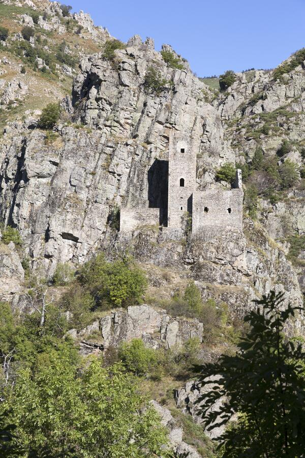 Castle of Borne in the Ardeche district, France. Historic aastle of Borne in the Ardeche district, France stock images