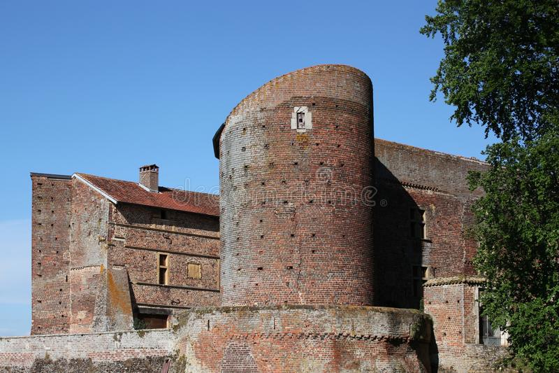 Castle of Bouligneux royalty free stock images
