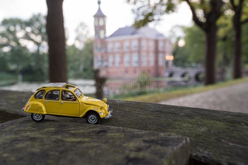 Drive by car near Bouvigne Castle stock photos