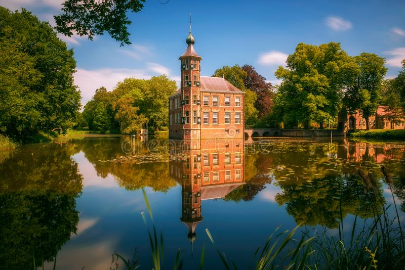 Castle Bouvigne and the surrounding park in Breda, Netherlands royalty free stock image