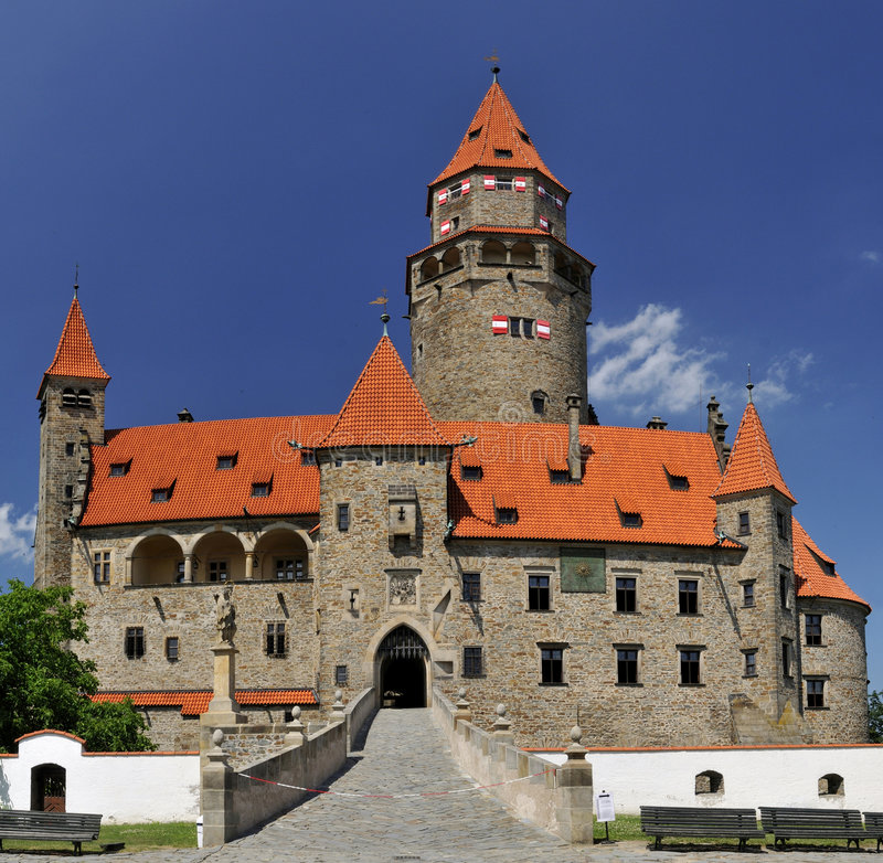 Download Castle Bouzov stock photo. Image of houses, morava, republic - 6663518