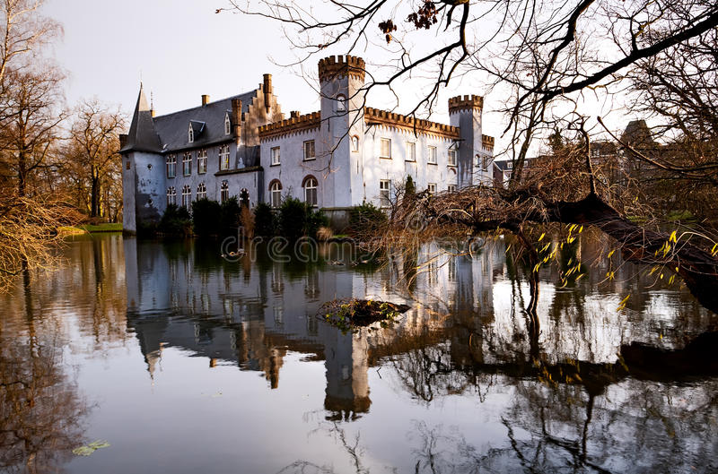 Castle in Boxtel. Castle on the lake in Boxtel, Netherlands royalty free stock photos