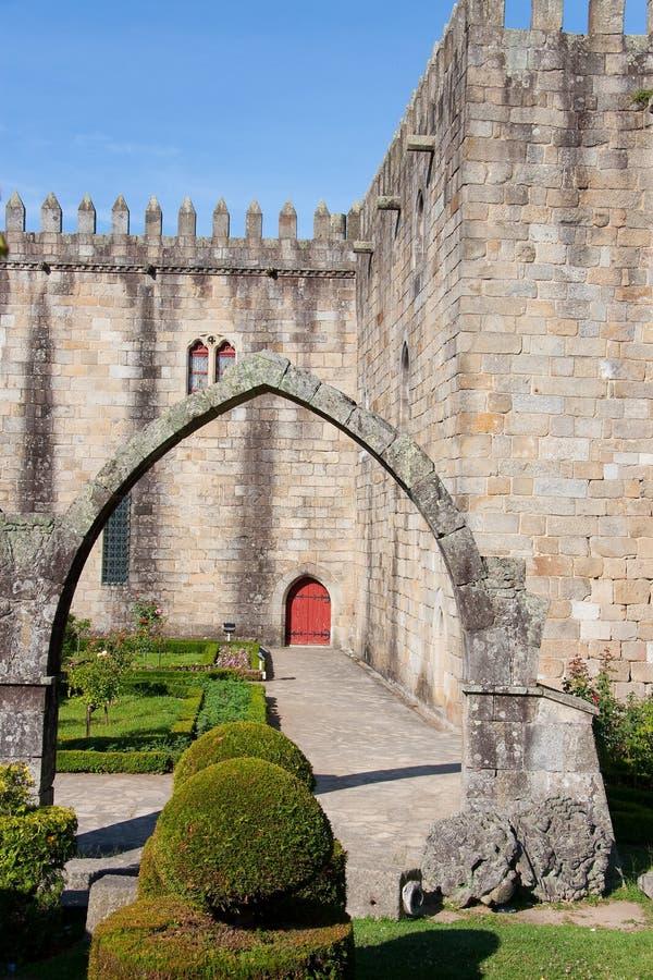 Castle of Braga. Castle of the city of Braga (Portugal stock photos