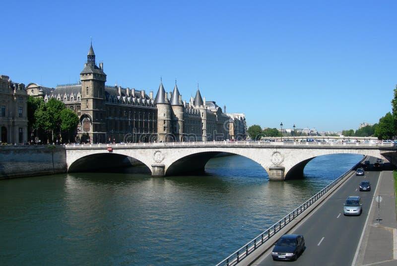 Download Castle And Bridge Over Seine In Paris Stock Photo - Image: 22869450