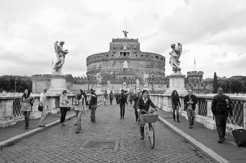Download The Castle And Bridge Sant'Angelo , Rome Editorial Photo - Image of fortress, bridge: 22901826