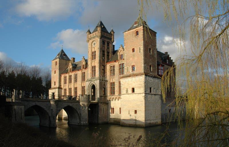 Castle in Bruges stock image