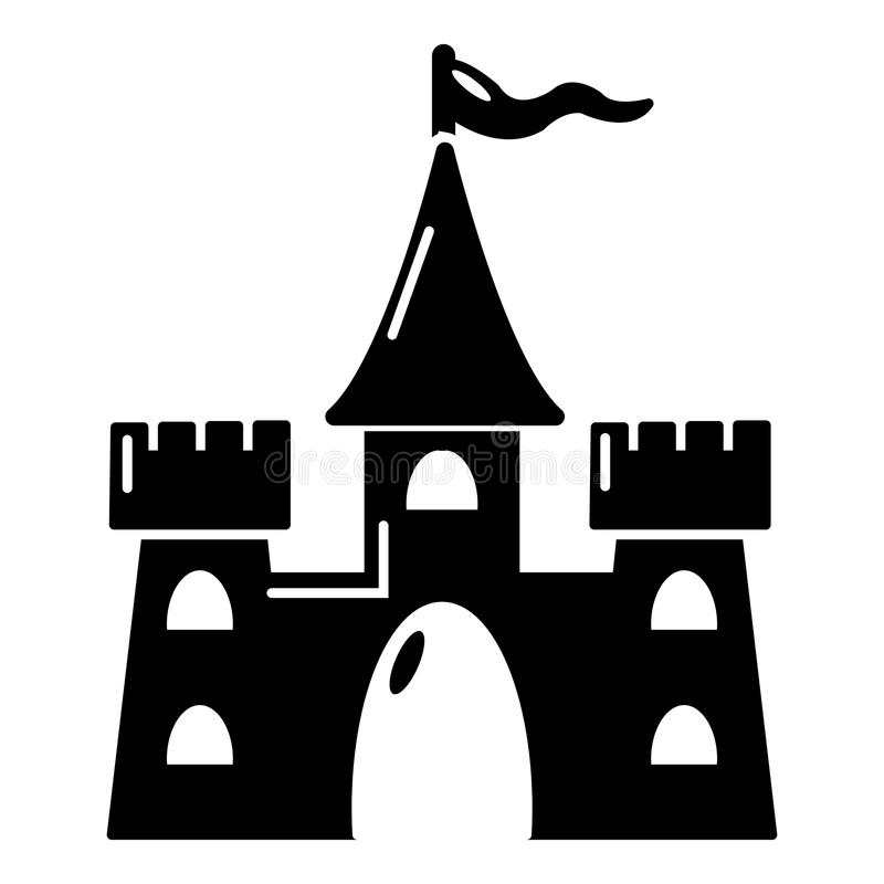 Castle building icon, simple style. Castle building icon. Simple illustration of castle vector icon for web design royalty free illustration