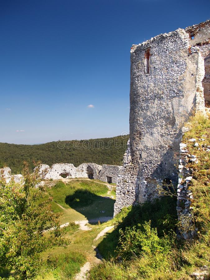 The Castle Of Cachtice - Donjon Stock Image