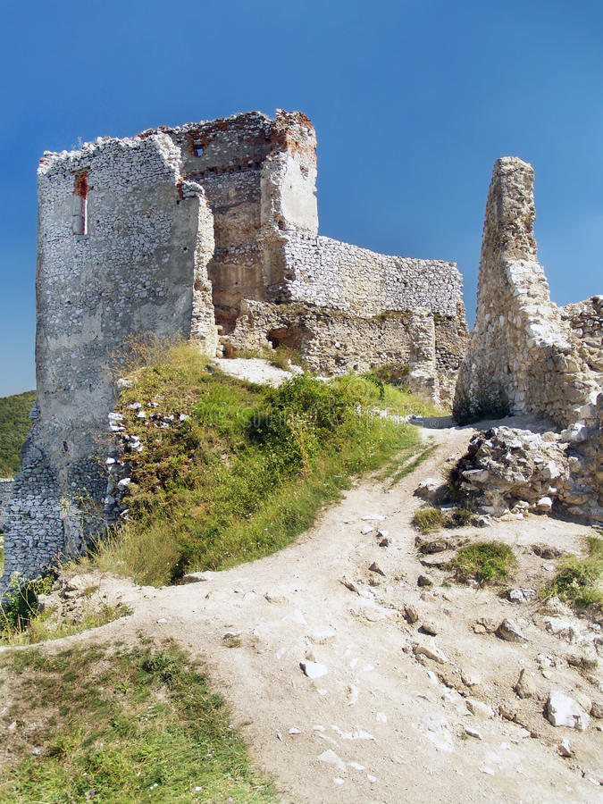 Download The Castle Of Cachtice - Donjon And Interior Stock Image - Image: 26753625
