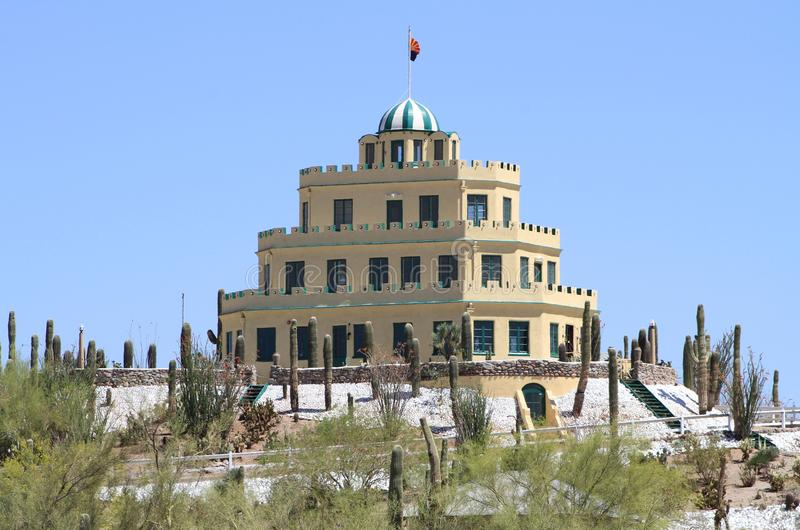 USA, Arizona/Phoenix: Tovrea Castle and Cactus Garden royalty free stock photos