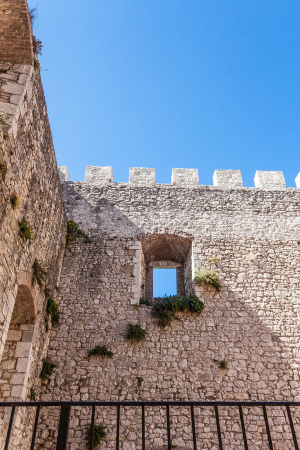 Castle of Campobasso, toothing stock photo