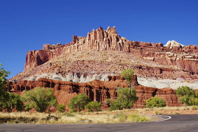 The Castle of Capitol Reef National Park royalty free stock image