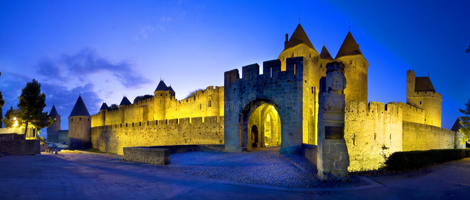 Castle of Carcassonne. View of the old french castle of Carcassonne royalty free stock photos