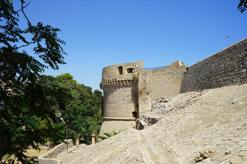 Castle of Carlo V, Crotone royalty free stock photos