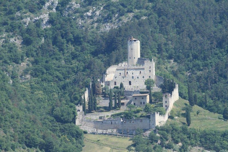 Castle Castello di Sabbionara 库存照片