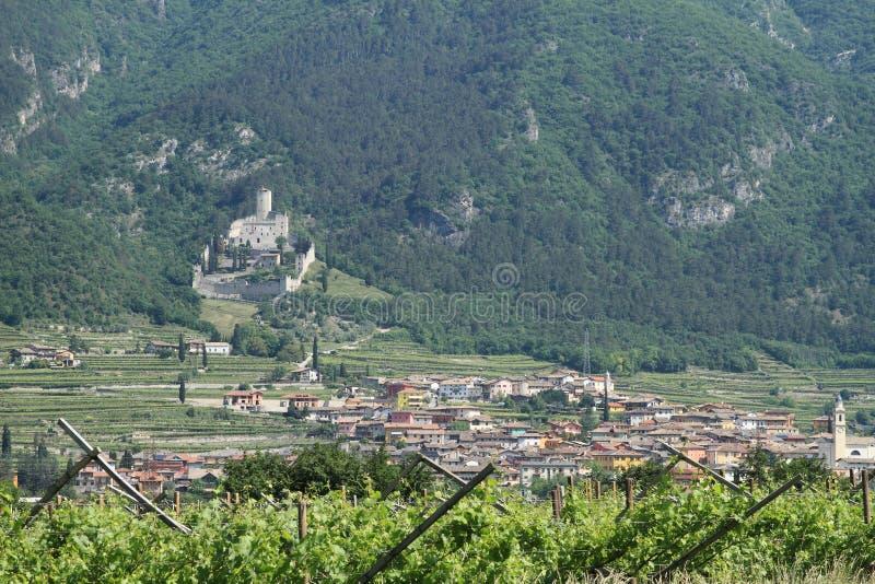 Castle Castello di Sabbionara 图库摄影