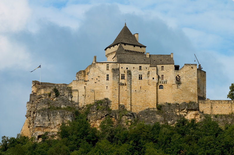 Castle of Castelnaud, France royalty free stock photography
