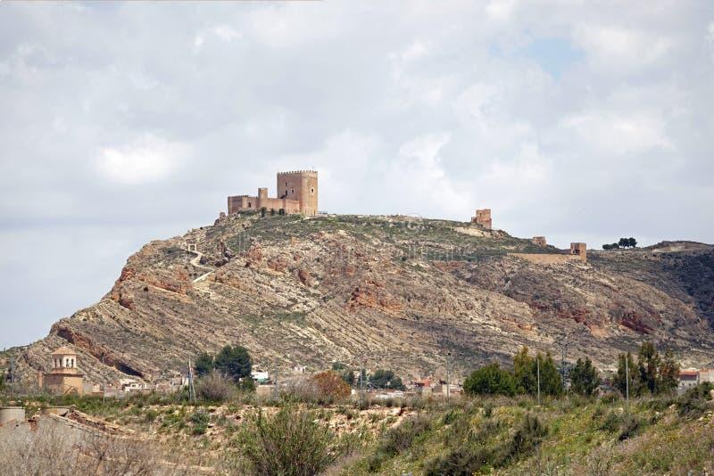 Castle Castillo DE Jumila in Murcia, Spanje royalty-vrije stock foto