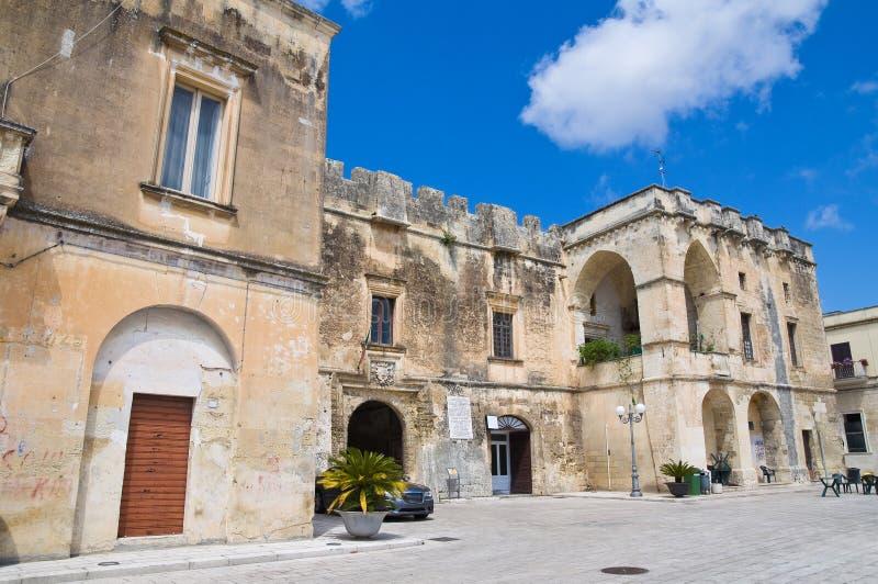 Castle Of Cavallino. Puglia. Italy. Royalty Free Stock Photo