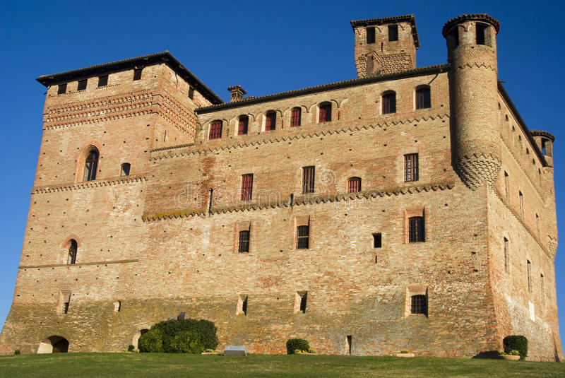Castle of Cavour royalty free stock photo