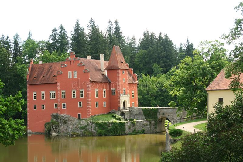 Castle Cervena Lhota, Czech republic stock images