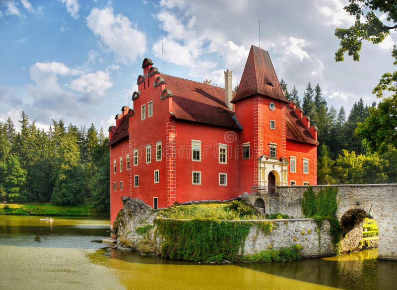 Castle Cervena Lhota, Czech republic royalty free stock image