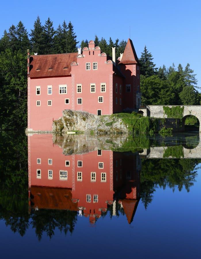 Castle Cervena Lhota stock image