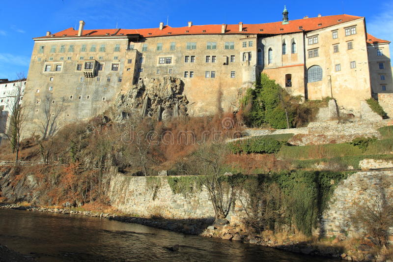 Castle in Cesky Krumlov royalty free stock photos