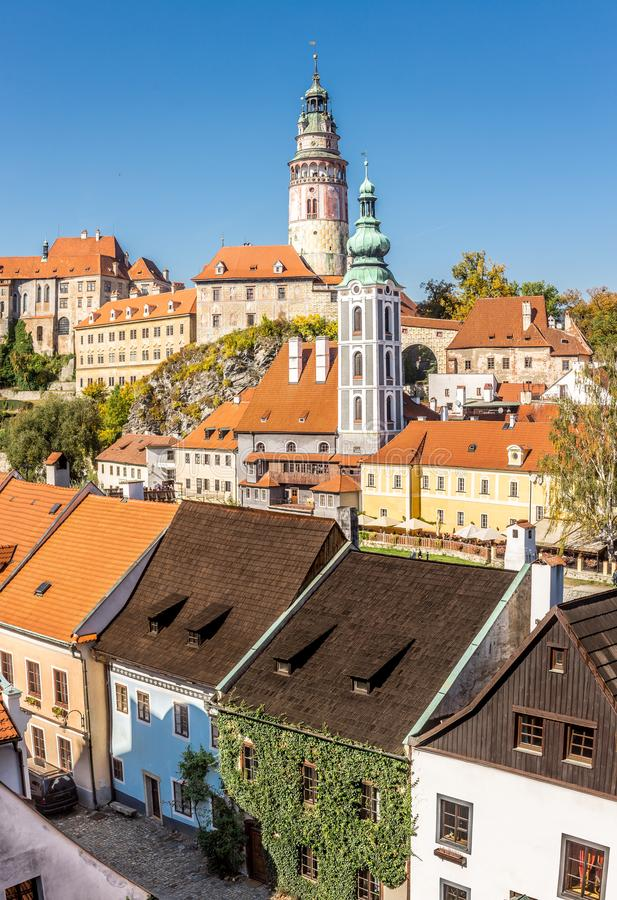 Castle of Cesky Krumlov and cityscape royalty free stock image