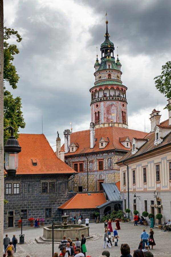 Castle in Cesky Krumlov. Czech Republic royalty free stock photos