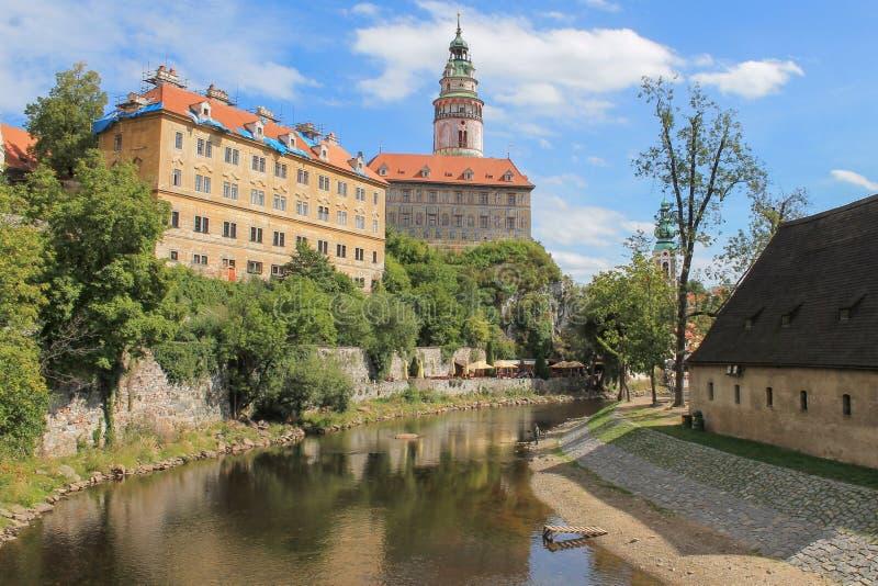 Castle of Cesky Krumlov in South Bohemia, Czech Republic stock photo