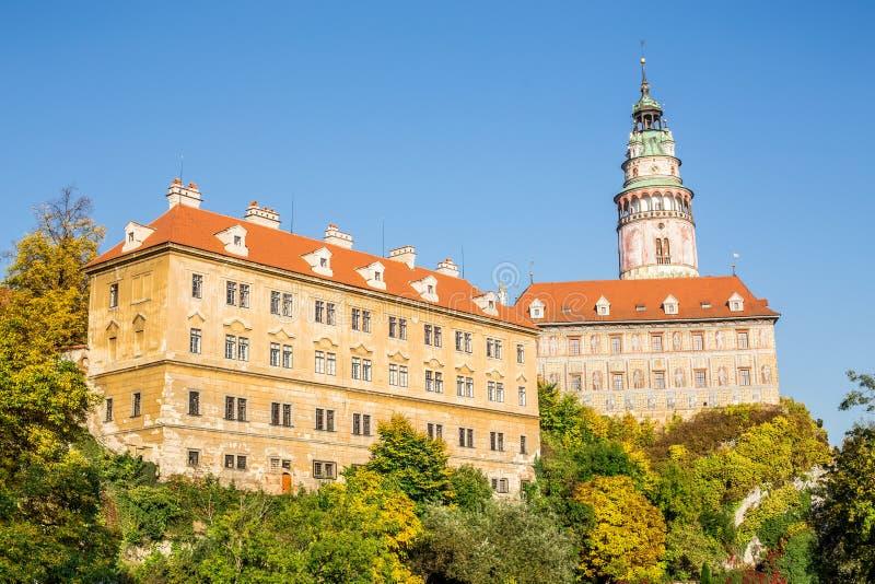 Castle of Cesky Krumlov in South Bohemia stock photos