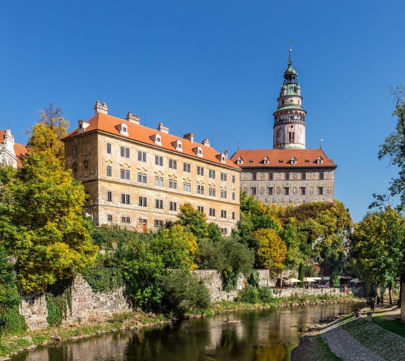 Castle of Cesky Krumlov in South Bohemia royalty free stock image