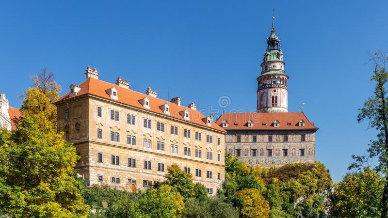 Castle of Cesky Krumlov in South Bohemia stock image