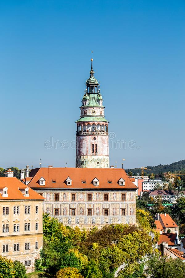 Castle of Cesky Krumlov in South Bohemia royalty free stock images