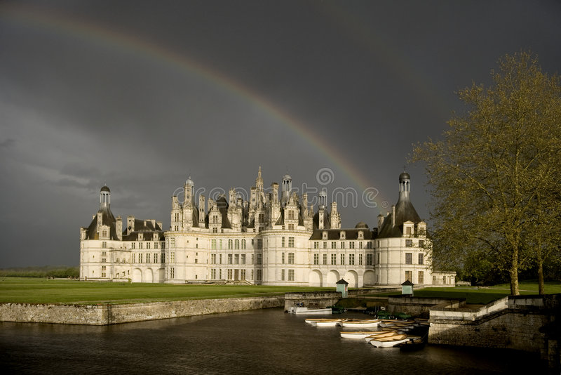 Castle of Chambord stock photos