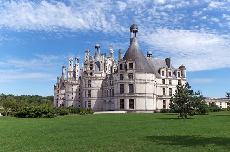 Lle Château de Chambord. Castle of Chambord in the Loire valley stock photography